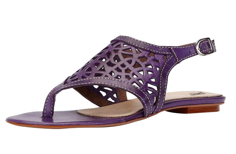 Kožené sandále lila (Heine)
