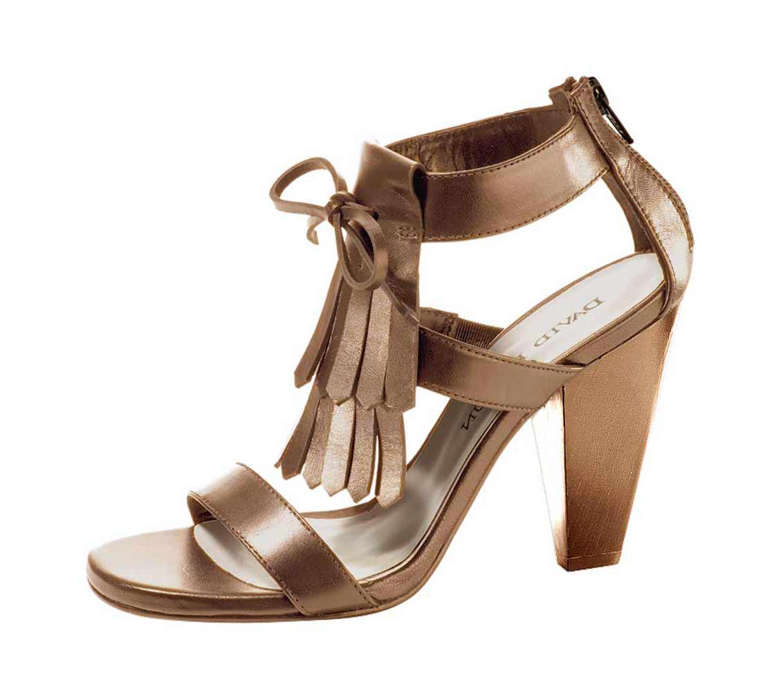 Dámské sandále na podpatku hnědé (Heine)