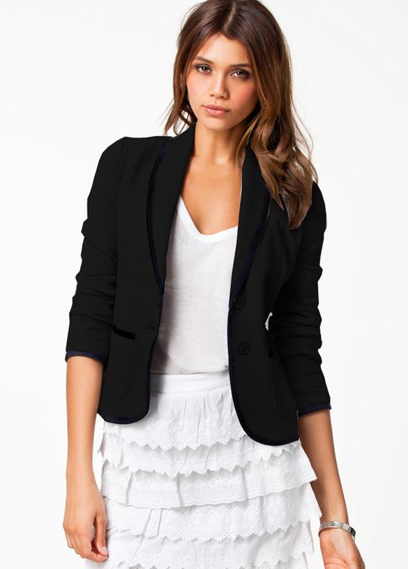002 Dámské stylové sako černé