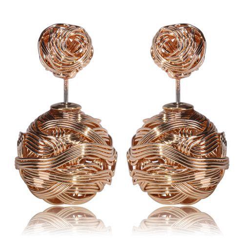 003 Naušnice oboustranné perly - zlaté