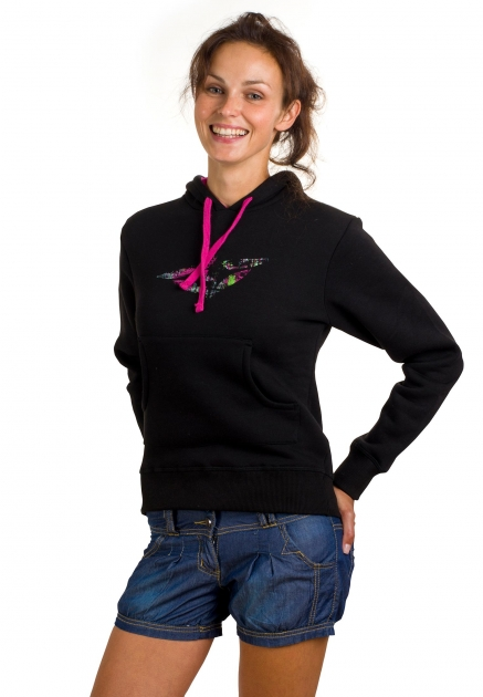 Dámská mikina WOOX Donna Sweatshirt black (Velikost : 38)