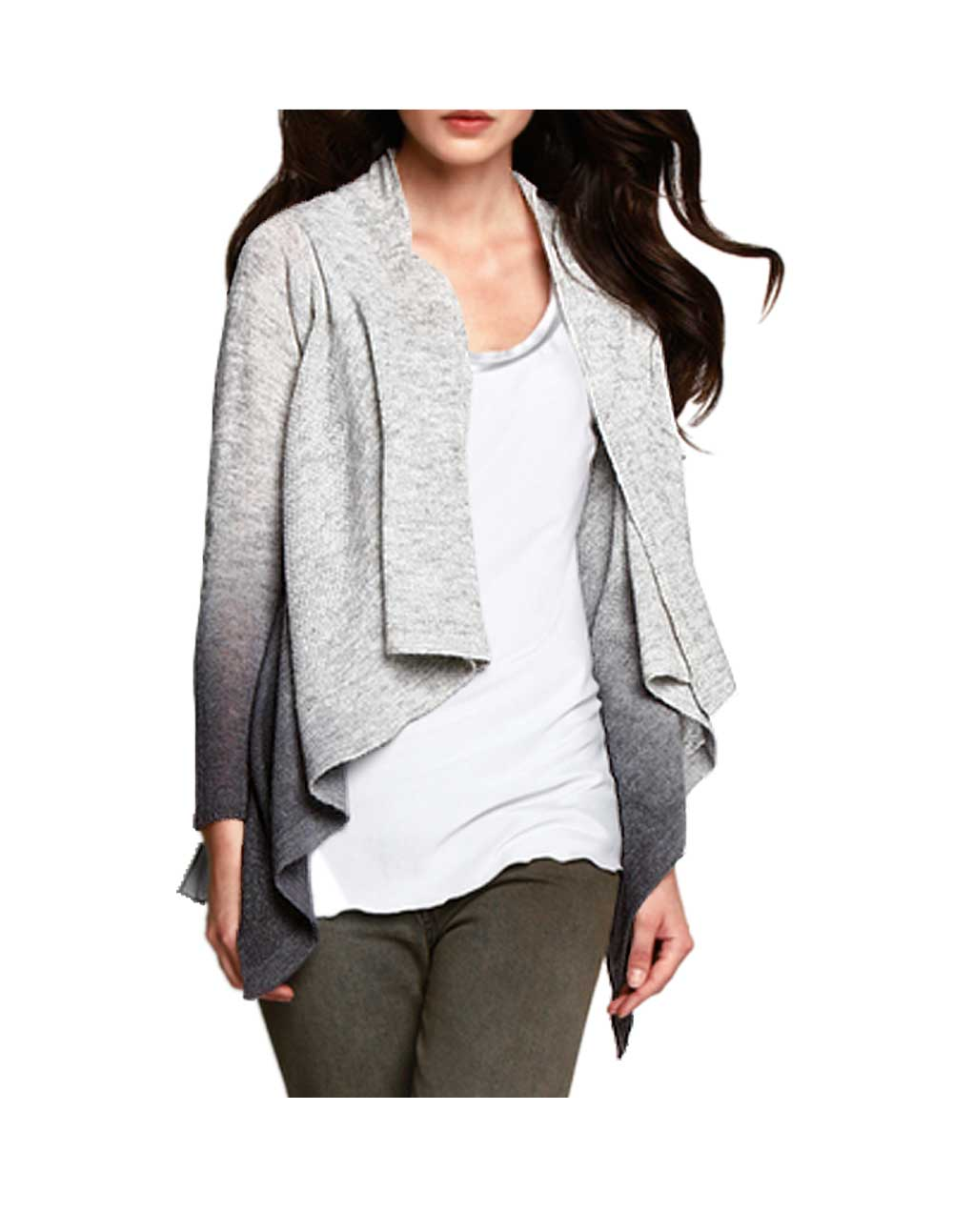Dámský cardigan svetr šedý