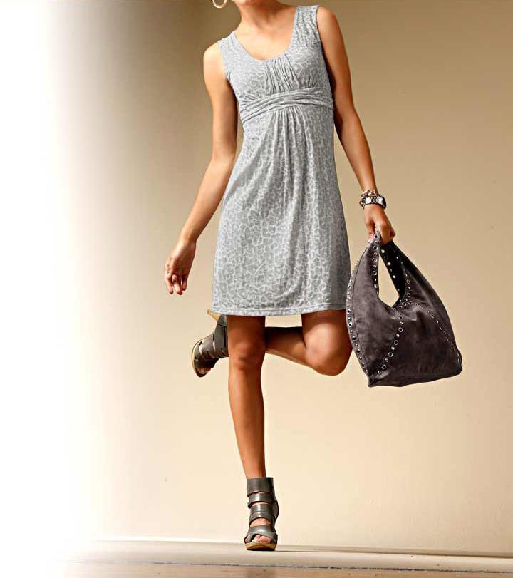 006 Dámské šaty bavlněné šedé tygrované  d5d8a8dd92