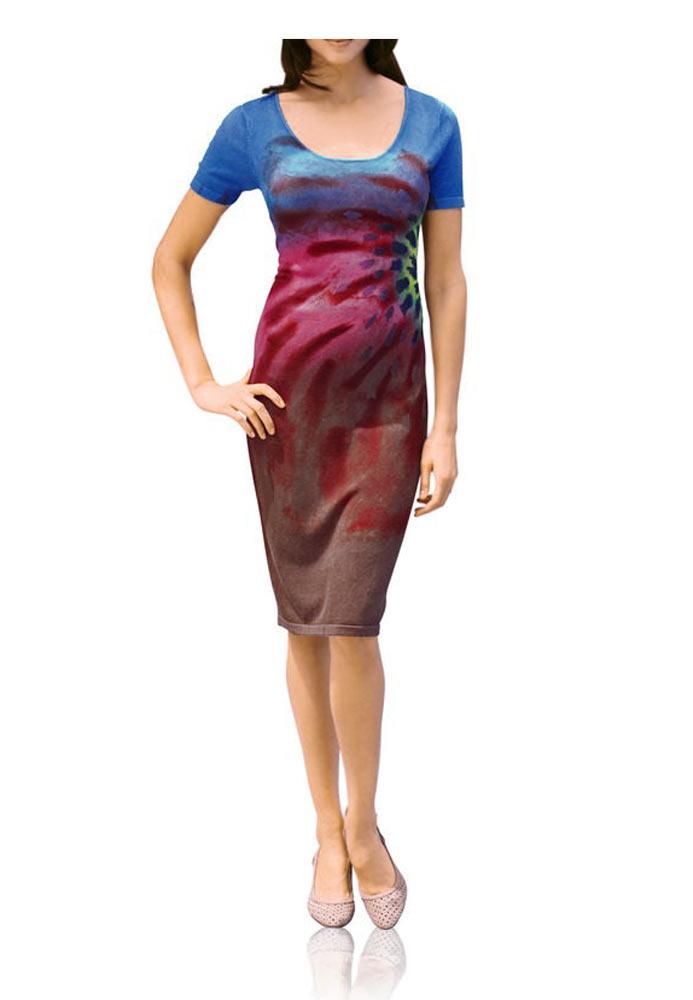 Letní jemné šaty multicolor (Heine)