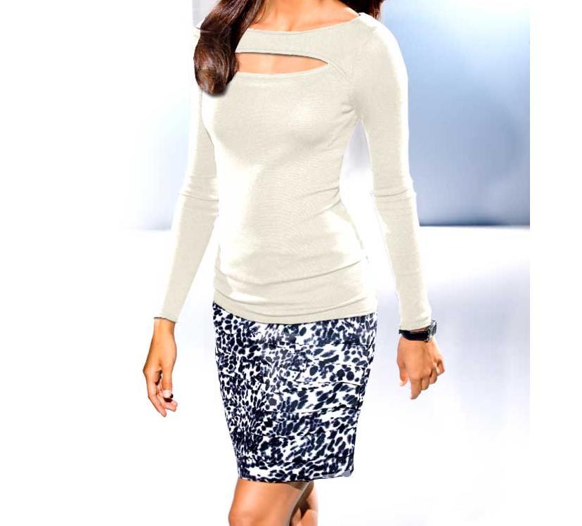 Designerská sukně modro bílá (PATRIZIA DINI)
