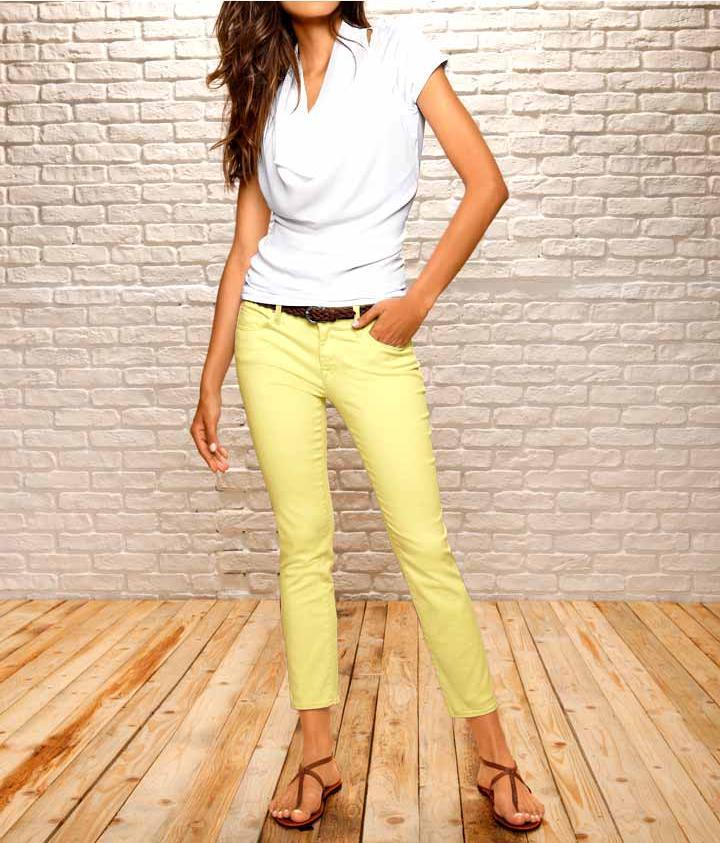Strečové džíny žluté (MAVI)