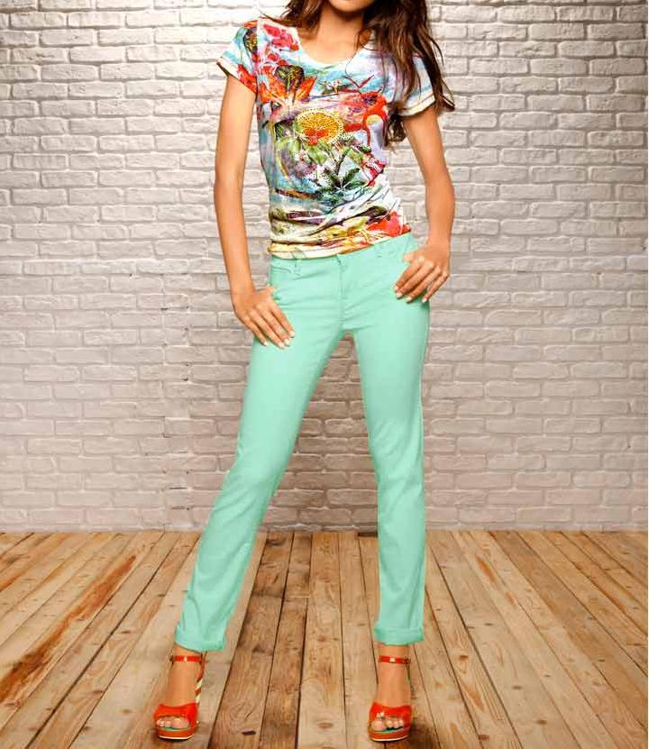 Strečové džíny mint (MAVI)