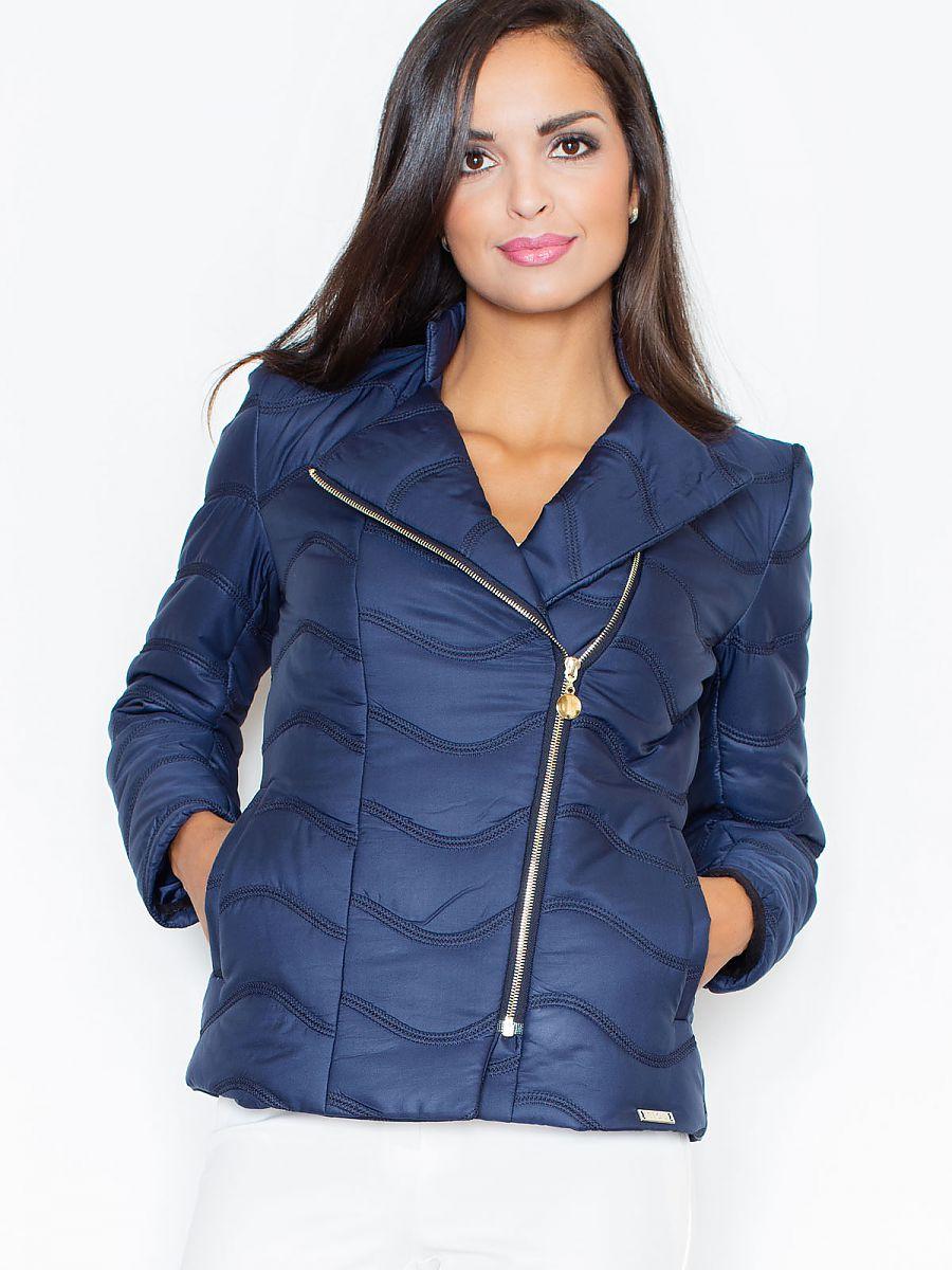 Dámská krátká prošívaná bunda modrá (Figl )