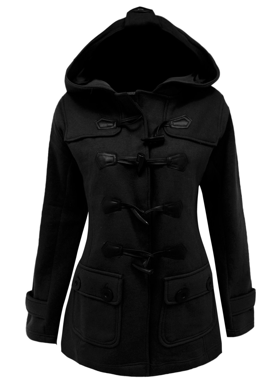 Dámský černý kabátek s kapucí jarní