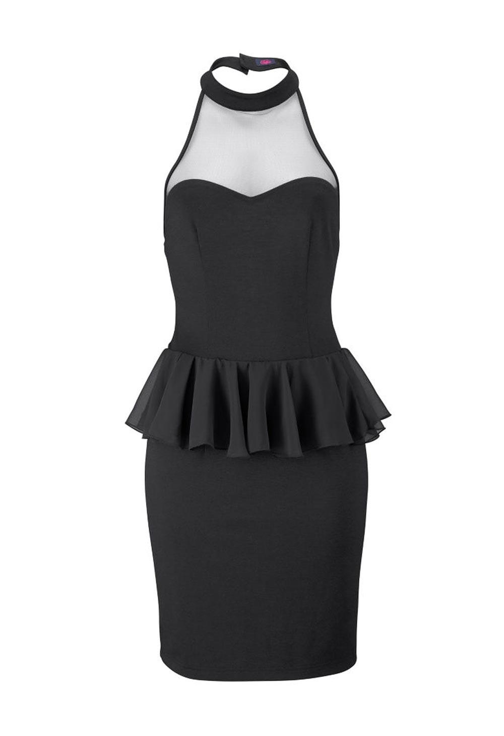Dámské společenské šaty s průhledným dekoltem (BUFFALO)