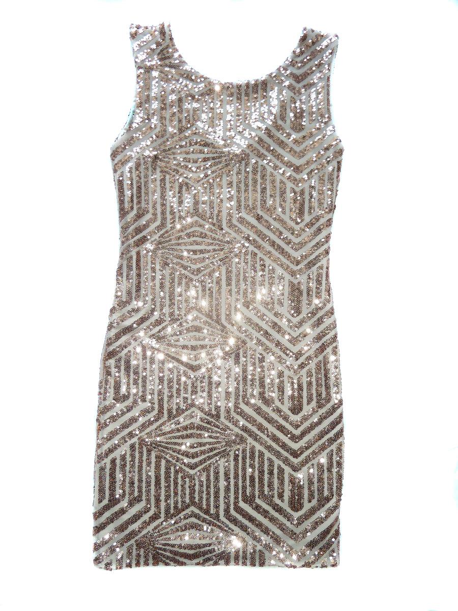 Třpytivé šaty s flitrami zlatorůžové