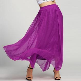 bb66315ee9fb 002 Dlouhá letní šifónová sukně světle růžová