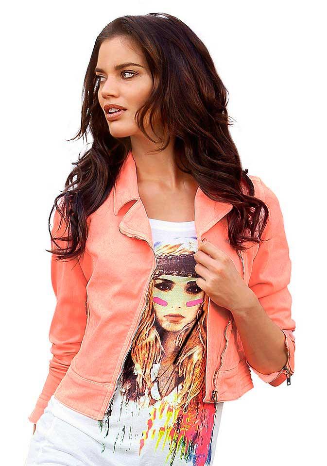 Dámská džínová bunda neon růžová (Laura Scott)