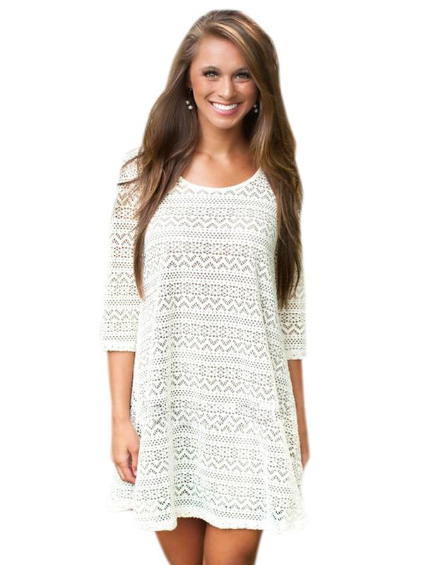 002 Dámské šaty letní krajkové/ plážové