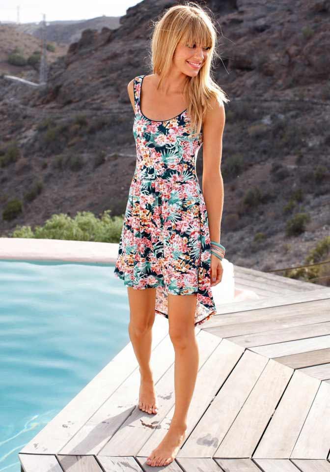 Dámské letní šaty asymetrické květované (AJC)
