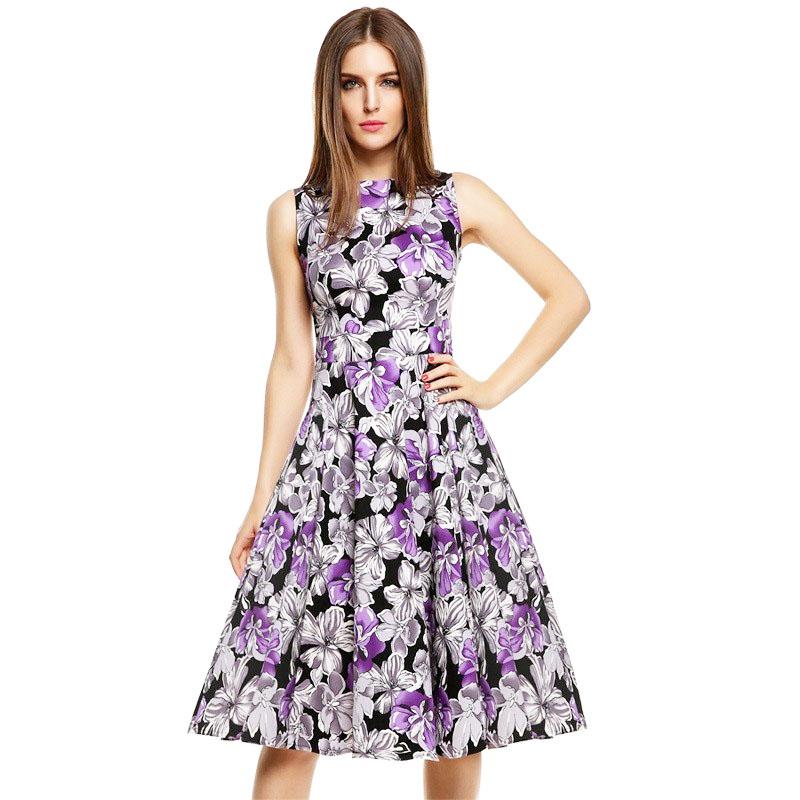 002 Dámské retro šaty PURPLE