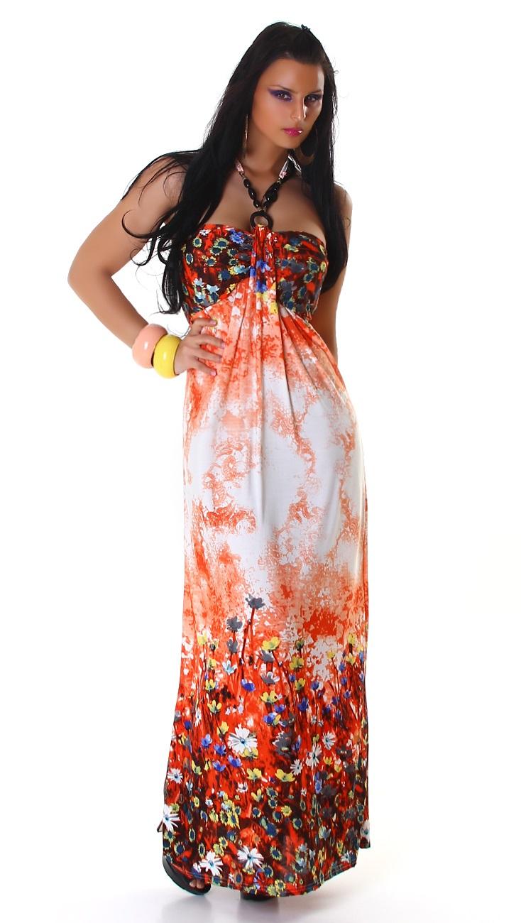 000* Dámské šaty letní maxi Orange