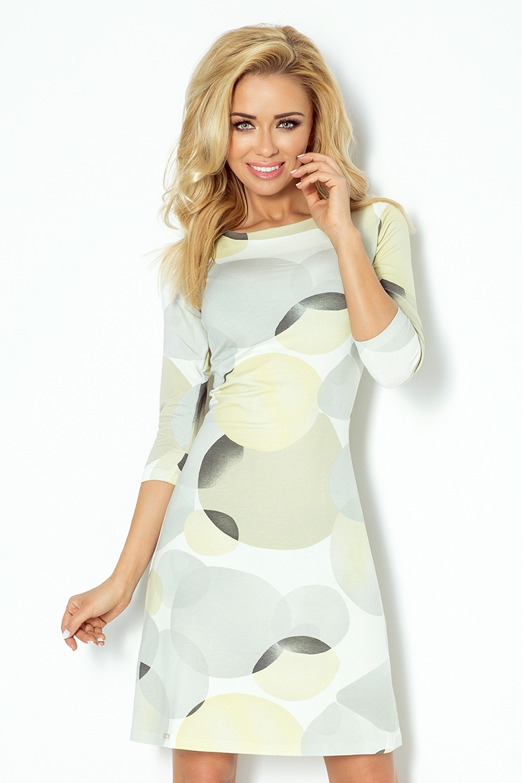 b51f53623fcd Letní šaty s 3 4 rukávem zelenkavo šedé