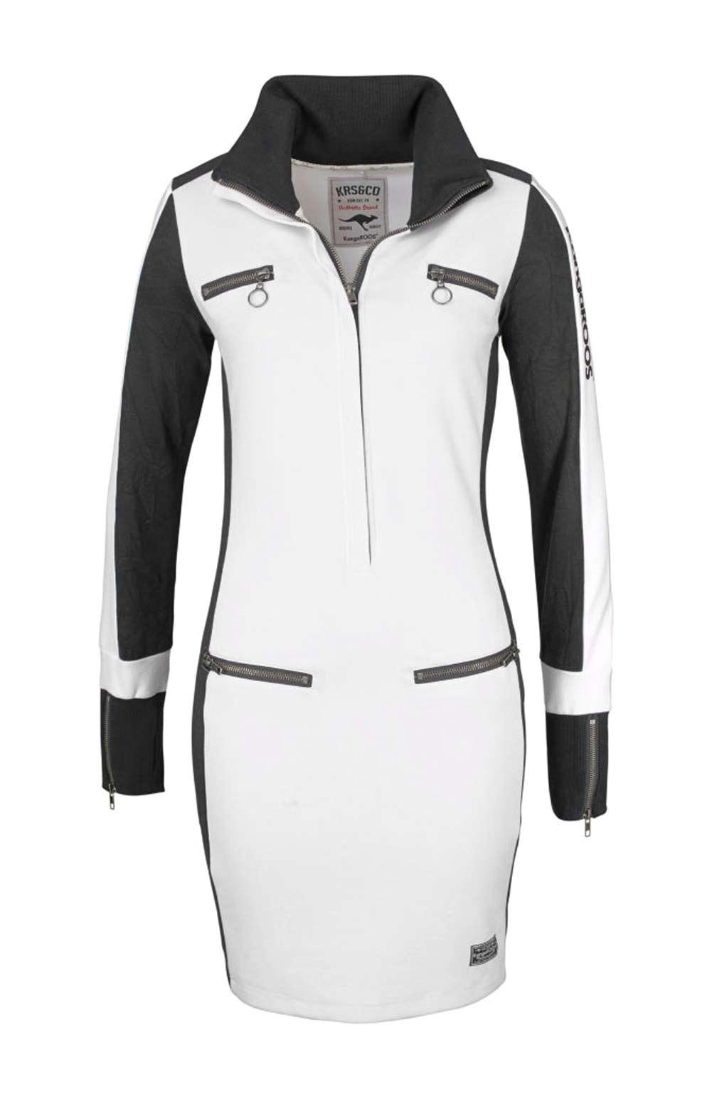 Dámské sexy šaty sportovní bíločerné (KangaROOS)