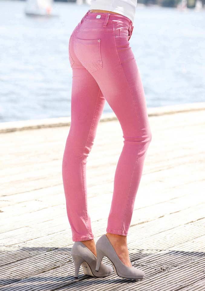 Dámské strečové džíny růžové dragon fruit ( MAC)