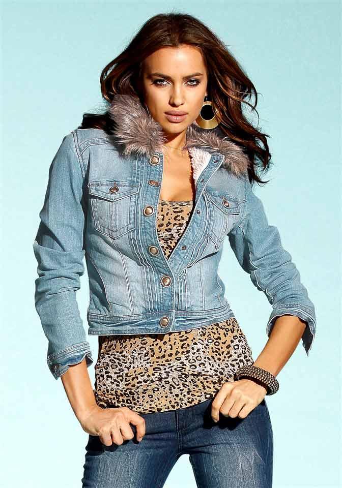 Dámská džínová bunda s kožešinkou (Laura Scott)