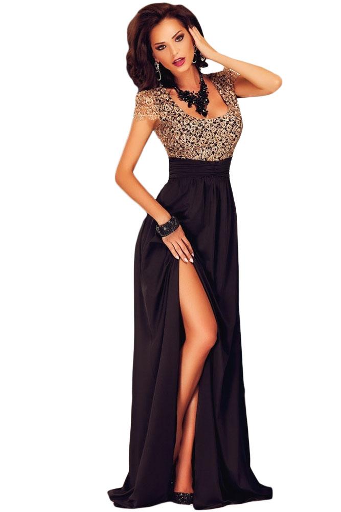 ff15347b964 001 Společenské šaty s krajkovým živůtkem