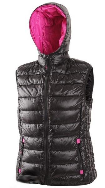 Dámská prošívaná vesta černá/fialová