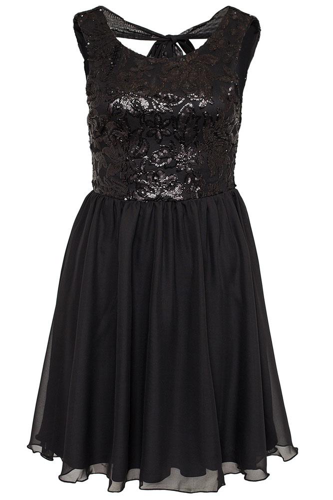 1ca177393c8 001 Dámské společenské šaty - černé flitry