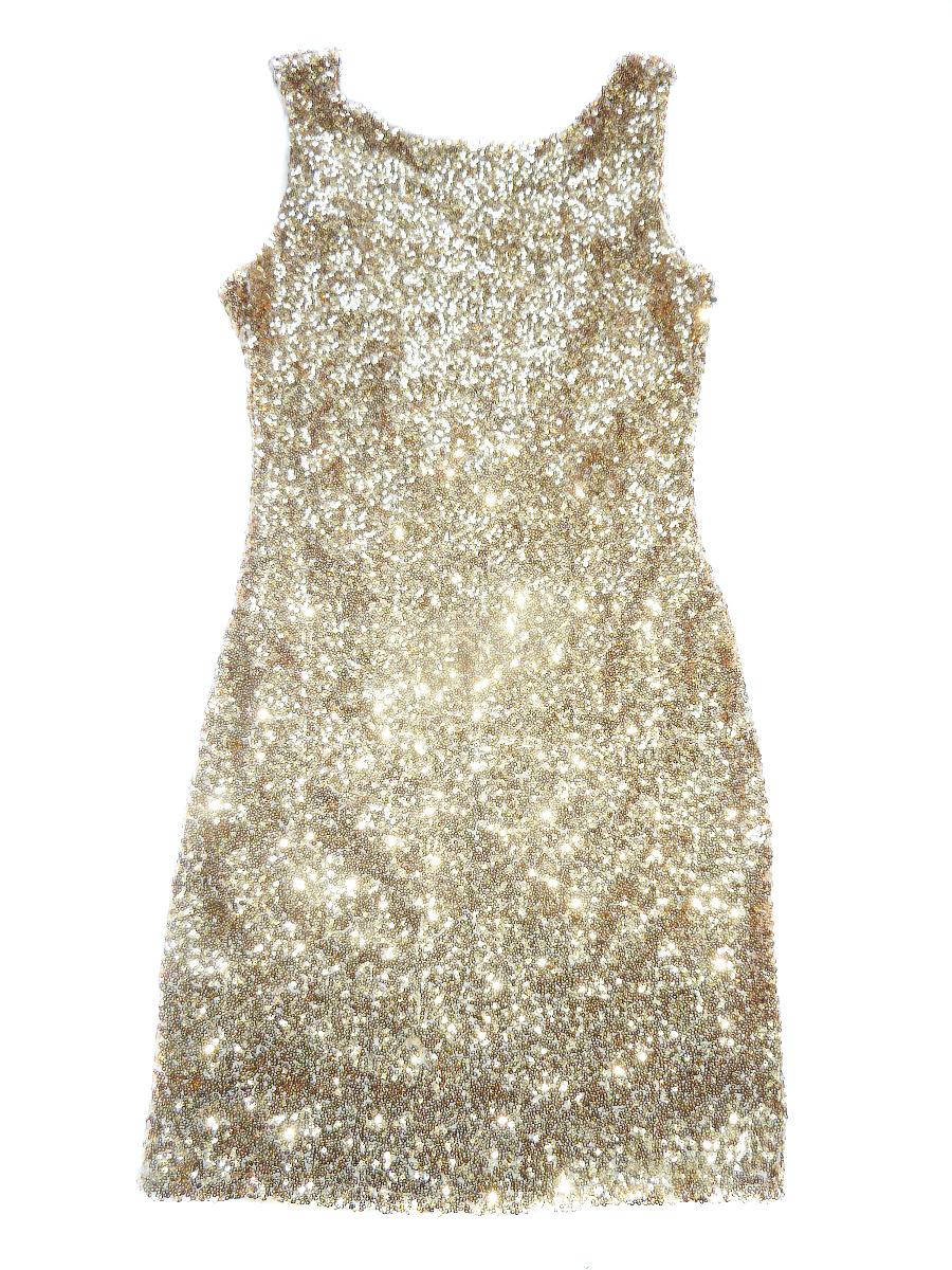 Třpytivé šaty s flitrami zlaté