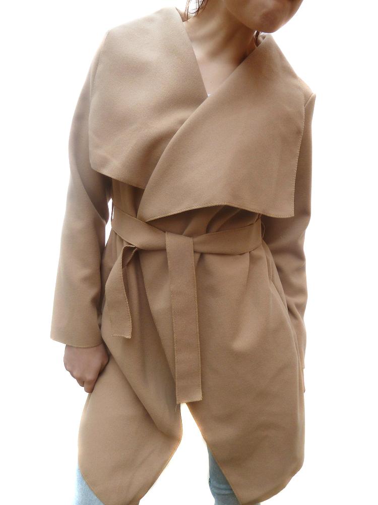 00  Dámský kabát - trenčkot Camel aefa556334