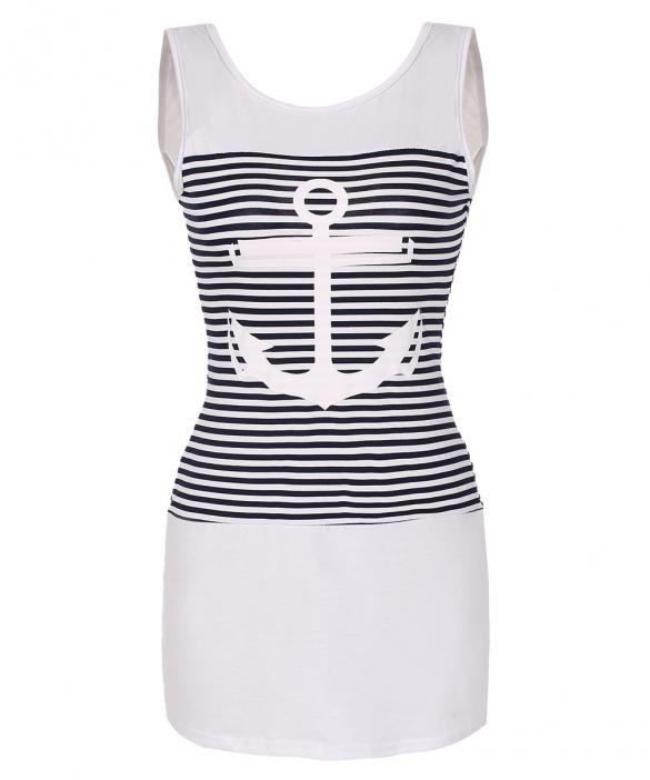 2e7f23062fd2 002 Dámské letní šaty námořnické