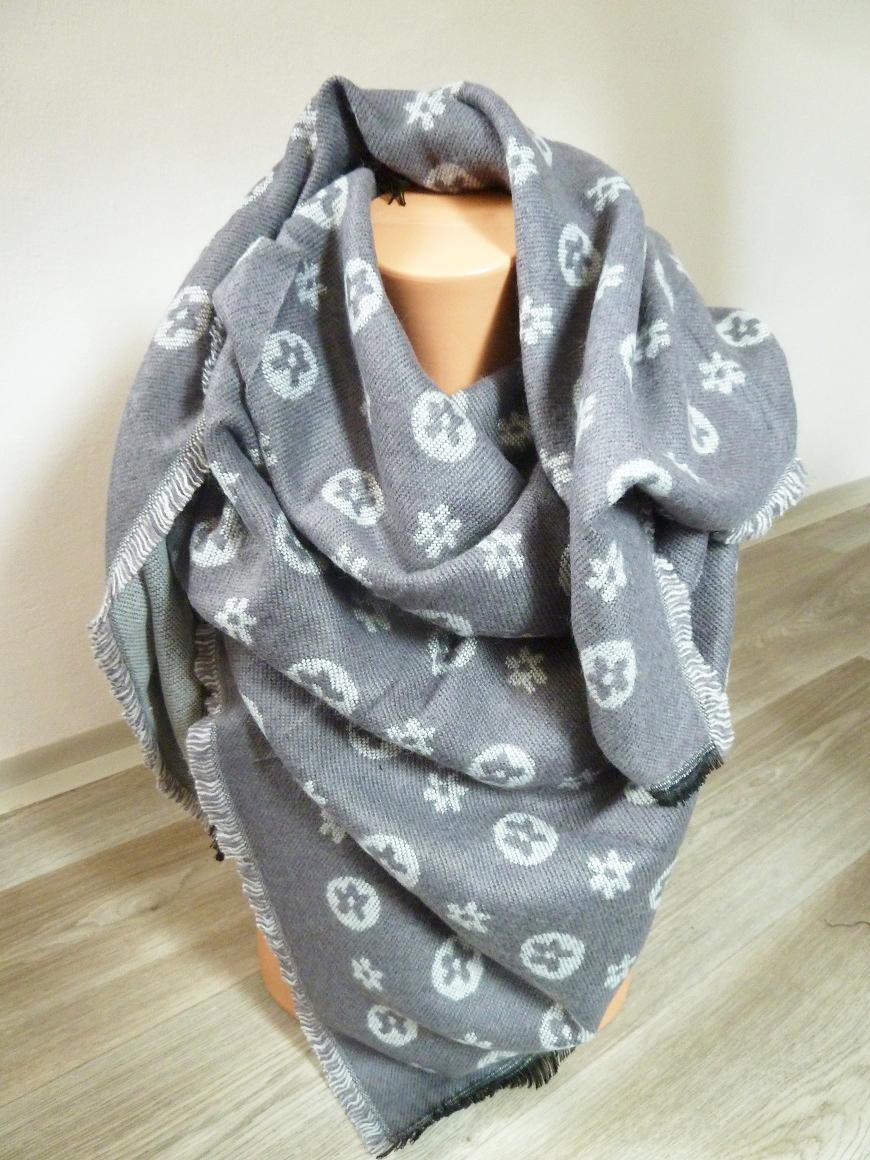 001 Dámský zimní šátek masivní oboustranný IV. 4bee45a28a
