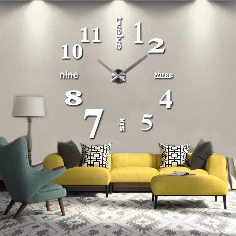 b63b4caff Nástěnné hodiny bílé MAXI 3D efekt