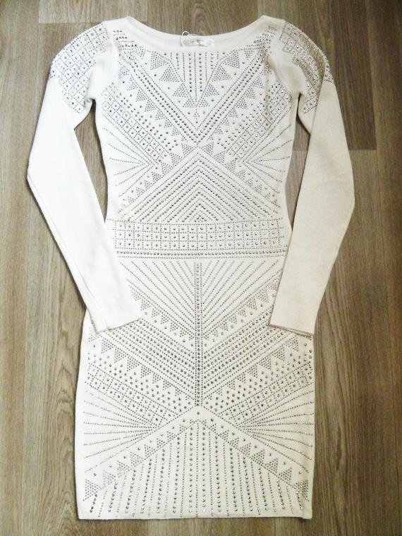6b3a0cb4c6df 00  Luxusní úpletové šaty bílé s třpytkami