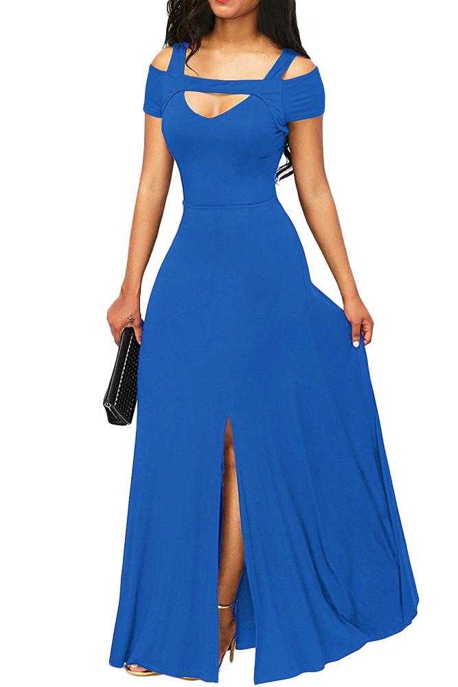 02 Společenské šaty dlouhé s výstřihem a rozparkem sv.modré  51524e1862