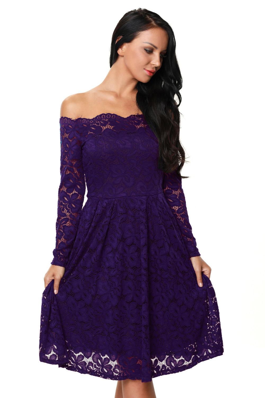 668a4ebc940 001 Společenské šaty fialové krajkové