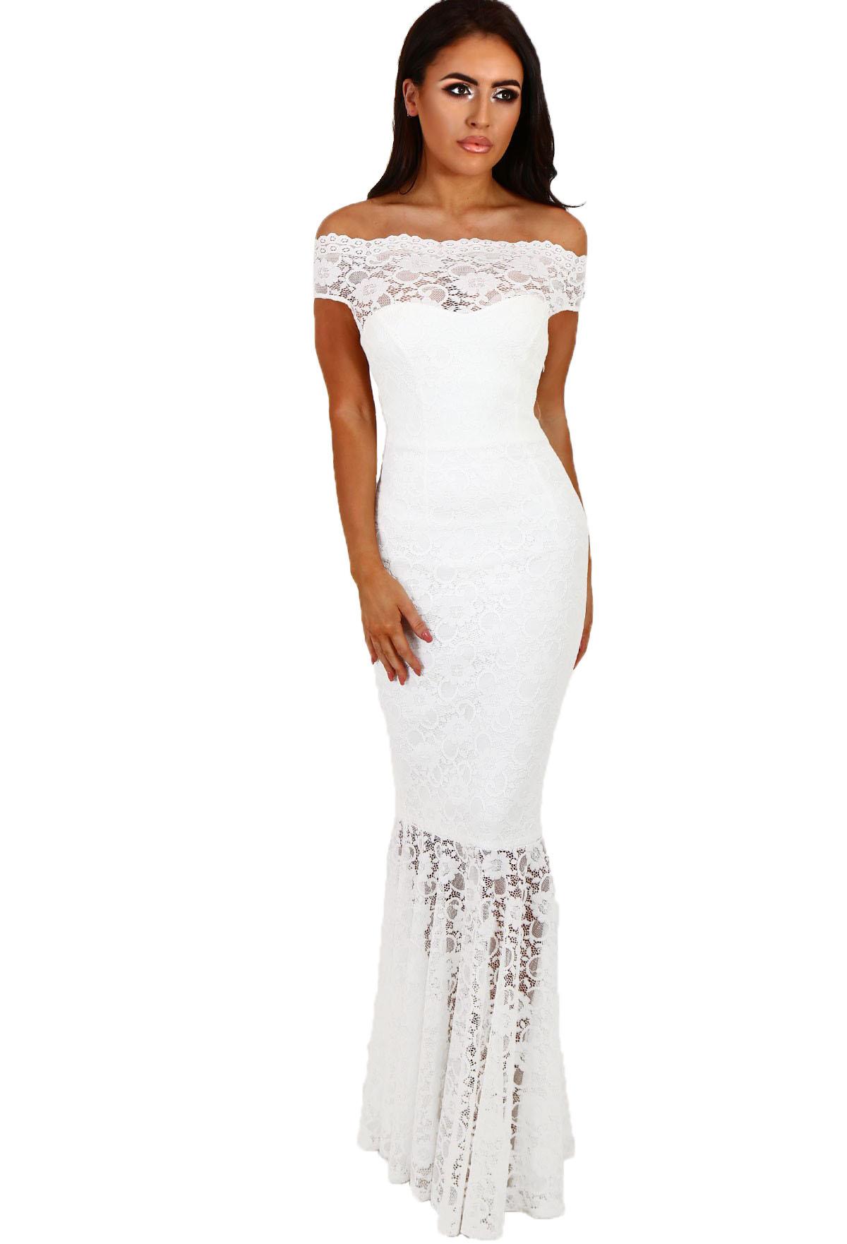 1a7f3041cacd 001 Společenské šaty krajkové dlouhé bílé
