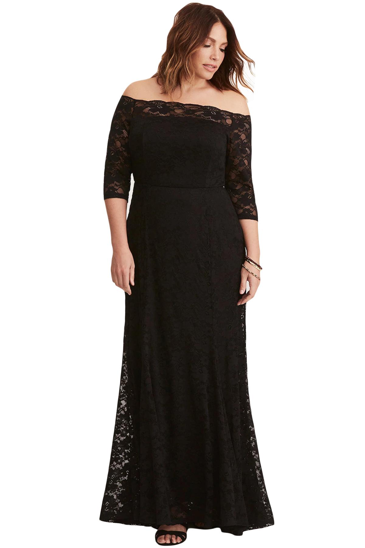 78057119ffb2 Společenské šaty pro plnoštíhlé krajkové dlouhé