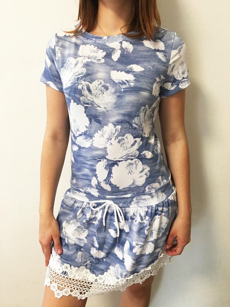 695999cea Letní šaty květované světle modré | Katyshop.cz