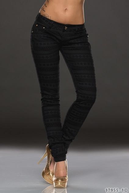 Dámské kalhoty slim černé  7946866d72