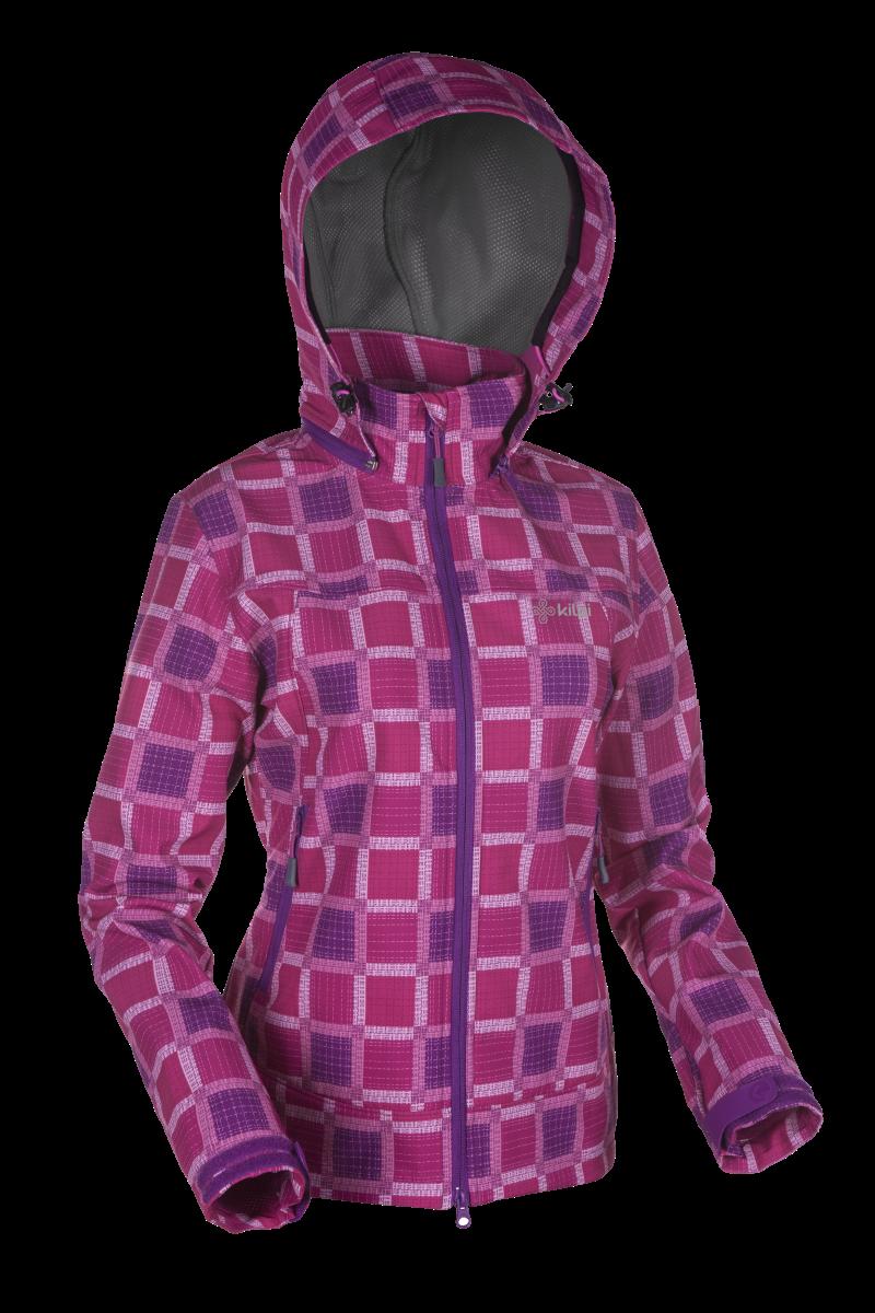 Dámská jarní softshellová bunda - KILPI - KINTLA VI. - RŮŽOVÁ