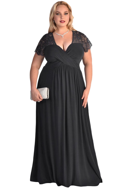 d2b4160c3a568 001 Dámské šaty pro plnoštíhlé černé XXL | Katyshop
