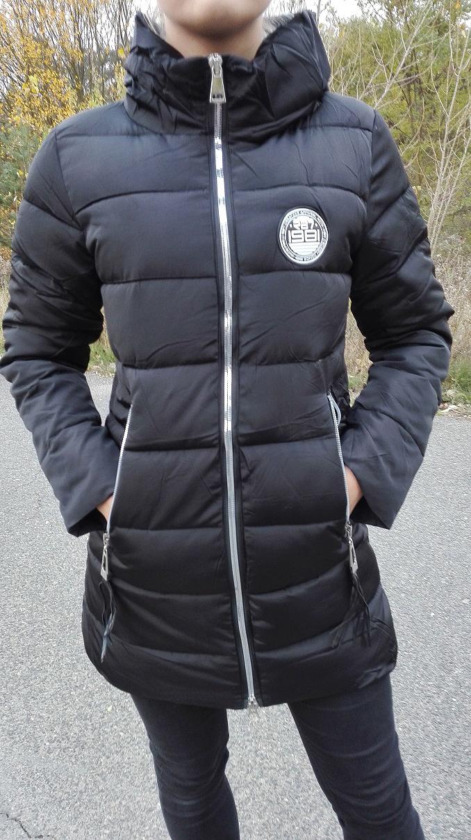 Dámská bunda zimní černá (Velikost : L)