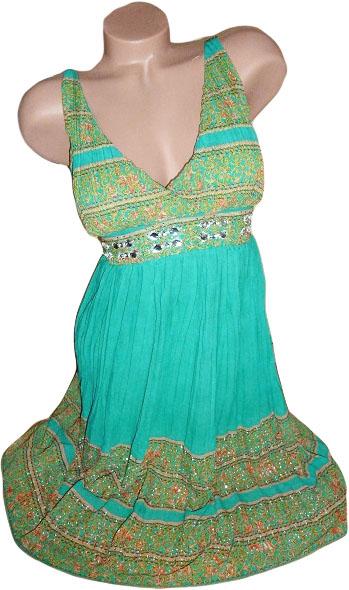 """0001 Letní """"antické"""" šaty zelené (Velikost : L/XL)"""