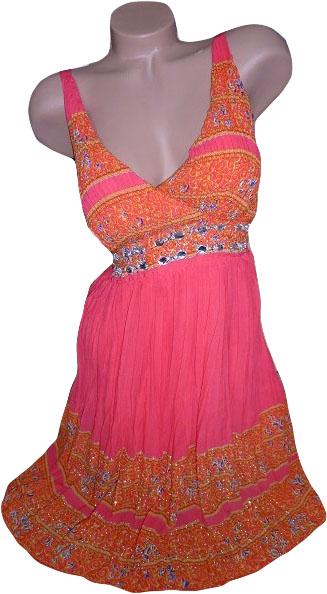 """0001 Letní """"antické"""" šaty červené (Velikost : L/XL)"""