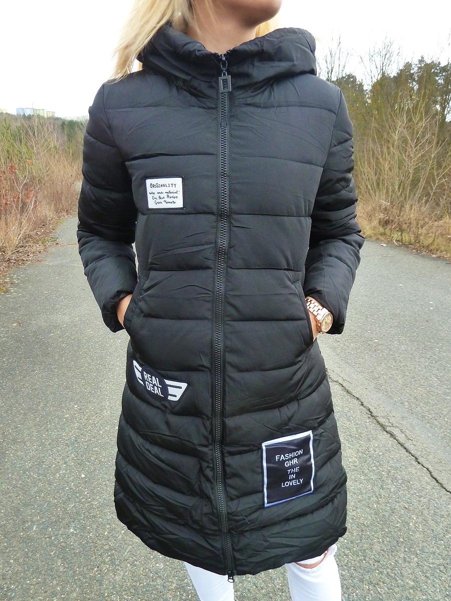 Dámská bunda/kabát zimní BLACK (Velikost : M)