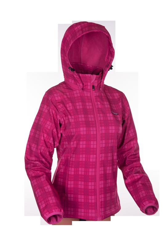 Dámská softshellová bunda - ENVY - KARINA I. - RŮŽOVÁ (Velikost : 40)