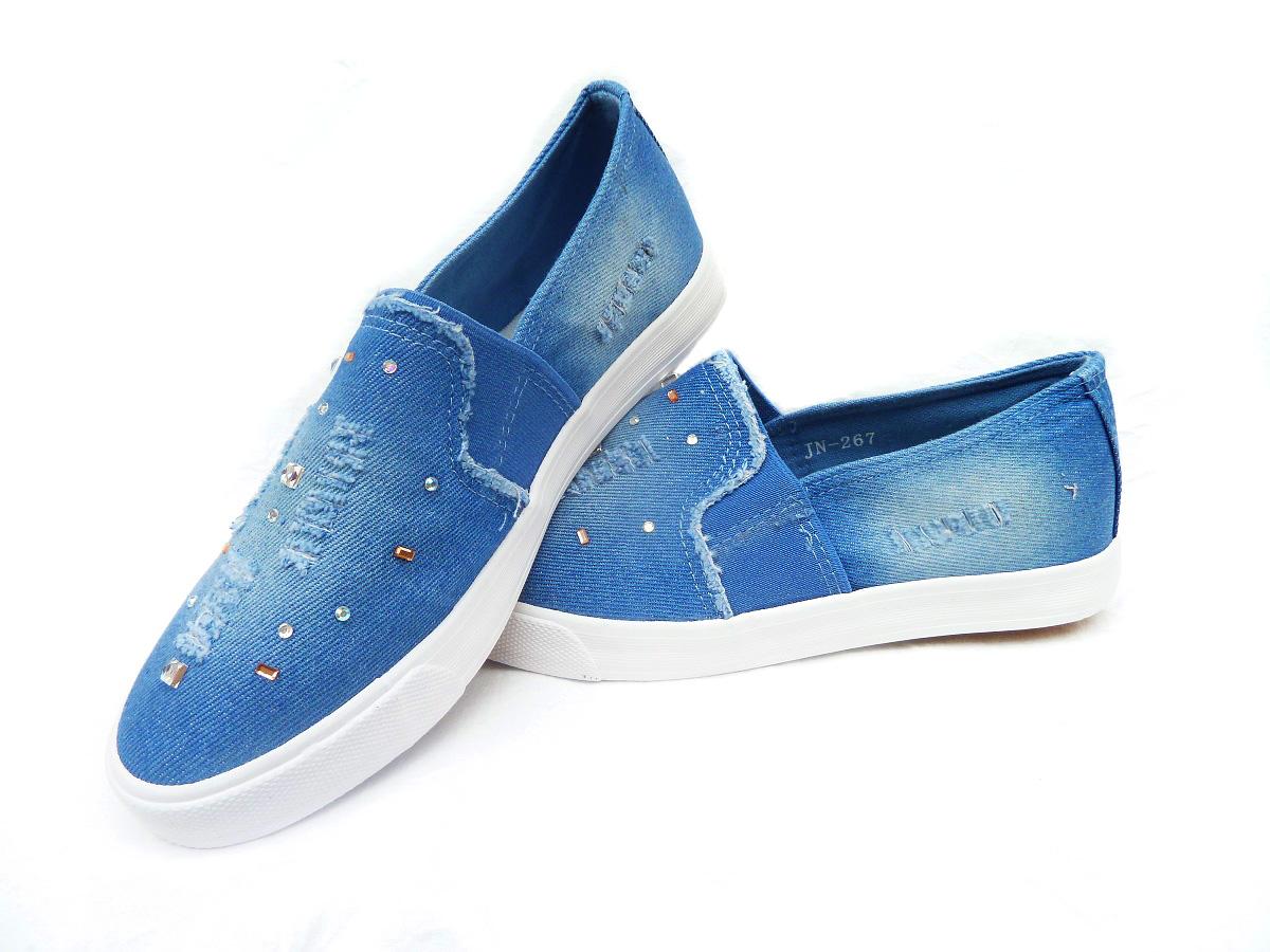 2312307345 Dámská slip-on obuv tenisky riflové
