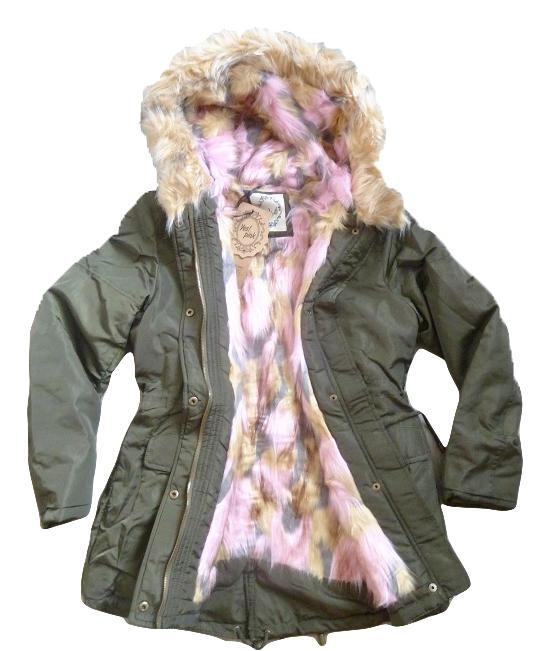 Dámská zimní army bunda   parka s kožíškem e5f25f92ec1