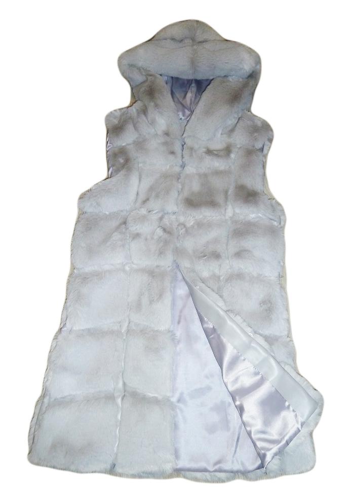 Dámská luxusní vesta kožešinová světle šedá empty 34fb11fc25